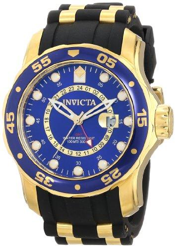 インヴィクタ インビクタ プロダイバー 腕時計 メンズ 6993 【送料無料】Invicta Men's 6993 Pro Diver Collection GMT Blue Dial Black Polyurethane Watchインヴィクタ インビクタ プロダイバー 腕時計 メンズ 6993