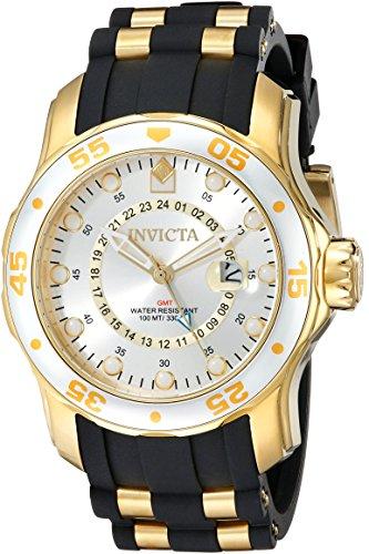 インヴィクタ インビクタ プロダイバー 腕時計 メンズ 6995 【送料無料】Invicta Men's 6995 Pro Diver Collection GMT Silver Dial Black Polyurethane Watchインヴィクタ インビクタ プロダイバー 腕時計 メンズ 6995