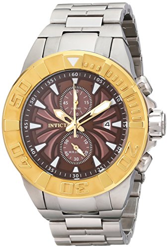 インヴィクタ インビクタ プロダイバー 腕時計 メンズ 12308 【送料無料】Invicta Men's 12308 Pro Diver Chronograph Brown Textured Dial Stainless Steel Watchインヴィクタ インビクタ プロダイバー 腕時計 メンズ 12308