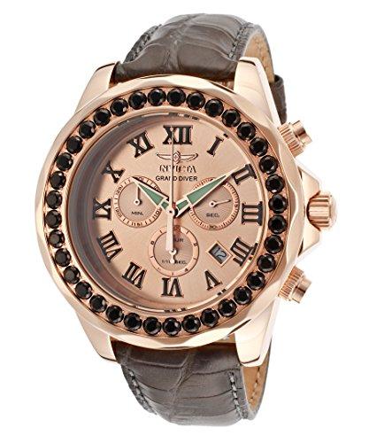 インヴィクタ インビクタ 腕時計 メンズ INVICTA-14924 【送料無料】Invicta Grand Diver Chronograph Rose Dial Grey Leather Mens Watch 14924インヴィクタ インビクタ 腕時計 メンズ INVICTA-14924