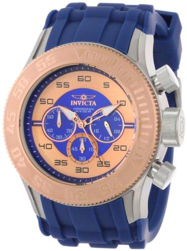インヴィクタ インビクタ プロダイバー 腕時計 メンズ 14981 Invicta Men's 14981 Pro Diver Chronograph Blue Rose Gold Dial Blue Silicone Watchインヴィクタ インビクタ プロダイバー 腕時計 メンズ 14981