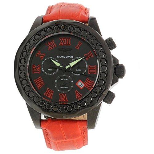 インヴィクタ インビクタ 腕時計 メンズ INVICTA-14926 【送料無料】Invicta Grand Diver Chronograph Black Dial Red Leather Mens Watch 14926 [Watc...インヴィクタ インビクタ 腕時計 メンズ INVICTA-14926