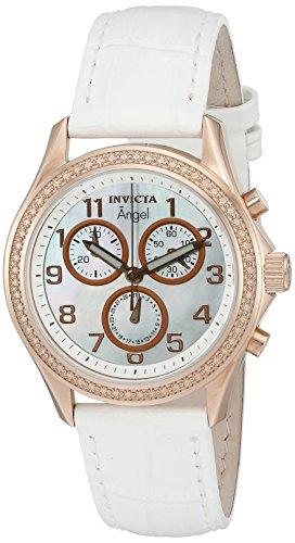 インヴィクタ インビクタ エンジェル 腕時計 レディース 12991 【送料無料】Invicta Women's 'Angel' Swiss Quartz Stainless Steel and White Leather Casual Watch (Model: 12991)インヴィクタ インビクタ エンジェル 腕時計 レディース 12991