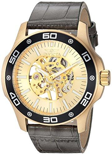 インヴィクタ インビクタ 腕時計 メンズ 17262 Invicta Men's Specialty Mechanical-Hand-Wind Watch with Leather Calfskin Strap, Grey, 24 (Model: 17262)インヴィクタ インビクタ 腕時計 メンズ 17262