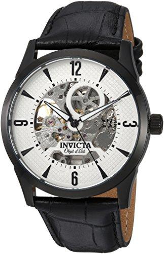 インヴィクタ インビクタ 腕時計 メンズ 22639 【送料無料】Invicta Men's Objet d'Art Stainless Steel Automatic-self-Wind Watch with Leather-Calfskin Strap, Black, 23 (Model: 22639)インヴィクタ インビクタ 腕時計 メンズ 22639
