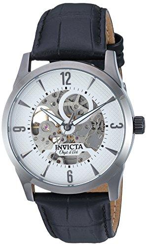 インヴィクタ インビクタ 腕時計 メンズ 22638 Invicta Men's Objet D Art Stainless Steel Automatic-self-Wind Watch with Leather Calfskin Strap, Black, 23 (Model: 22638)インヴィクタ インビクタ 腕時計 メンズ 22638