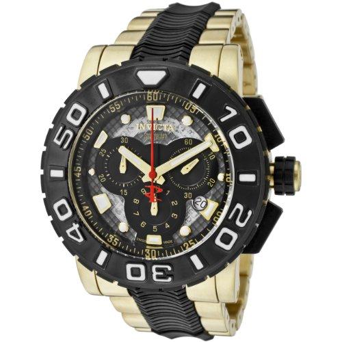 インヴィクタ インビクタ リザーブ 腕時計 メンズ 6314 【送料無料】Invicta Men's 6314 Reserve Collection Chronograph 18k Gold-Plated and Black Polyurethane Watchインヴィクタ インビクタ リザーブ 腕時計 メンズ 6314