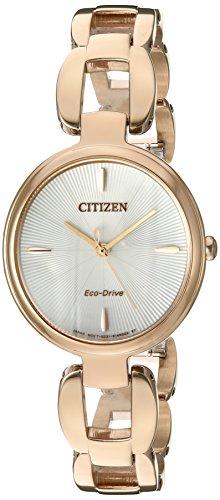 シチズン 逆輸入 海外モデル 海外限定 アメリカ直輸入 EM0423-56A 【送料無料】Citizen Women's 'Eco-Drive L' Quartz Stainless Steel and Gold Dress Watch(Model: EM0423-56A)シチズン 逆輸入 海外モデル 海外限定 アメリカ直輸入 EM0423-56A