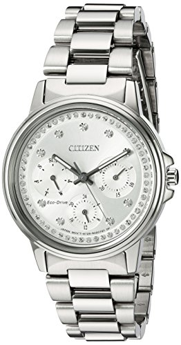 シチズン 逆輸入 海外モデル 海外限定 アメリカ直輸入 FD2040-57A 【送料無料】Citizen Women's Eco-Drive-Silhouette Japanese-Quartz Watch with Stainless-Steel Strap, Silver, 20 (Model: FDシチズン 逆輸入 海外モデル 海外限定 アメリカ直輸入 FD2040-57A