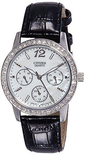 シチズン 逆輸入 海外モデル 海外限定 アメリカ直輸入 ED8090-11D 【送料無料】Citizen Quartz Ladies Swarovski Crystal Watch - MOP Dial - Steel Case - Strapシチズン 逆輸入 海外モデル 海外限定 アメリカ直輸入 ED8090-11D