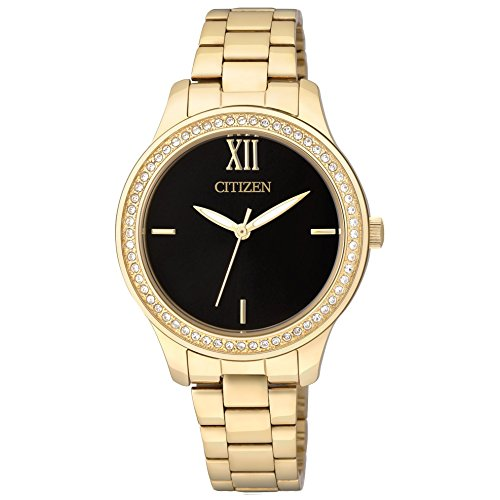 シチズン 逆輸入 海外モデル 海外限定 アメリカ直輸入 EL3088-59E 【送料無料】Citizen EL3088-59E Ladies Quartz Crystal Black Dial Watch.シチズン 逆輸入 海外モデル 海外限定 アメリカ直輸入 EL3088-59E