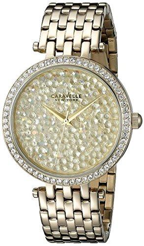 ブローバ 腕時計 レディース 44L184 Caravelle New York Women's 44L184 Swarovski Crystal Gold Tone Watchブローバ 腕時計 レディース 44L184