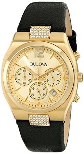 ブローバ 腕時計 レディース 97M107 Bulova Women's 97M107 Crystal Analog Display Japanese Quartz Black Watchブローバ 腕時計 レディース 97M107