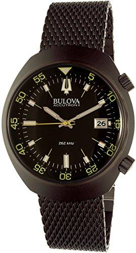 ブローバ 腕時計 メンズ 98B247 【送料無料】Bulova Men's 98B247 Accutron II Analog Japanese Quartz Black Watchブローバ 腕時計 メンズ 98B247