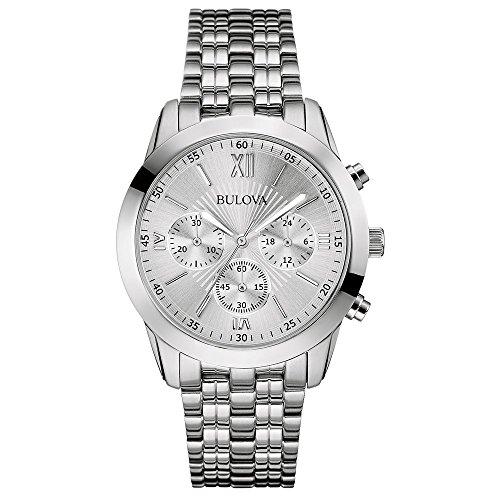 ブローバ 腕時計 メンズ 96A163 【送料無料】Bulova 96A163 Mens Dress Chronograph White Silver Watchブローバ 腕時計 メンズ 96A163