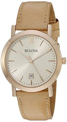 ブローバ 腕時計 メンズ 97B144 Bulova Men's 97B144 Classic Analog Display Quartz Beige Watchブローバ 腕時計 メンズ 97B144