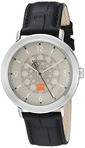 ブローバ 腕時計 メンズ 96A164 【送料無料】Bulova Men's Quartz Stainless Steel and Leather Dress Watch, Color:Black (Model: 96A164)ブローバ 腕時計 メンズ 96A164