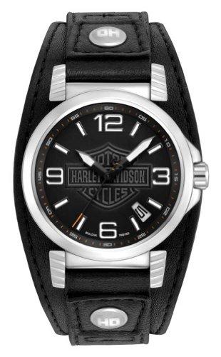 ブローバ 腕時計 メンズ 76B163 【送料無料】Harley-Davidson Men's Bulova Ghost Bar & Shield Wrist Watch. 76B163ブローバ 腕時計 メンズ 76B163