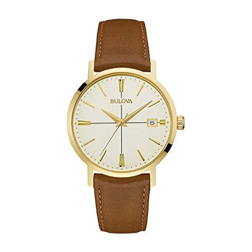 ブローバ 腕時計 メンズ 97B151 Bulova mens 97B151 20mm Leather Calfskin Brown Watch Braceletブローバ 腕時計 メンズ 97B151