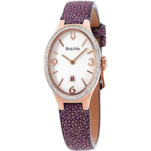 ブローバ 腕時計 レディース BUL-98R198 Bulova Diamond Quartz Movement White Dial Ladies Watch 98R198ブローバ 腕時計 レディース BUL-98R198