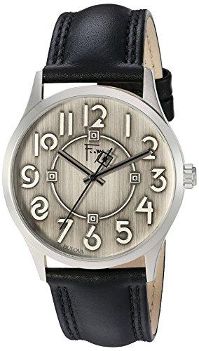 ブローバ 腕時計 メンズ 96A147 【送料無料】Bulova Men's Quartz Brass and Leather Dress Watch, Color:Black (Model: 96A147)ブローバ 腕時計 メンズ 96A147