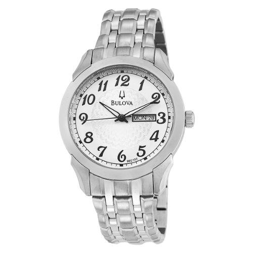 ブローバ 腕時計 メンズ 96C103 【送料無料】Bulova Men's 96C103 Silver and White Dial Bracelet Watchブローバ 腕時計 メンズ 96C103