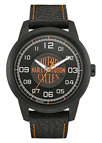 腕時計 ブローバ メンズ 78A116 【送料無料】Harley-Davidson Men's Bar & Shield Script Watch, Stainless Steel, Black 78A116腕時計 ブローバ メンズ 78A116