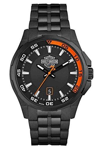 ブローバ 腕時計 メンズ 78B141 Harley-Davidson Men's Dashboard Bar & Shield Watch, Black Stainless Steel 78B141ブローバ 腕時計 メンズ 78B141