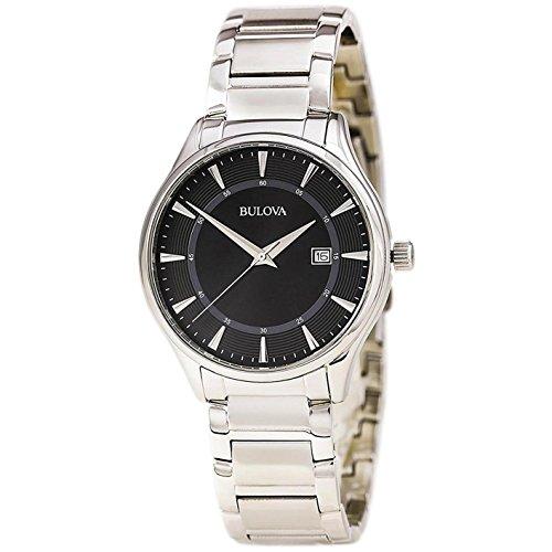 ブローバ 腕時計 メンズ 96B184 Bulova 96B184 Men's Stainless Steel Black Quartz Watchブローバ 腕時計 メンズ 96B184