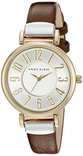 アンクライン 腕時計 レディース AK/2157SVBN 【送料無料】Anne Klein Women's AK/2157SVBN Easy To Read Two-Tone and Brown Leather Strap Watchアンクライン 腕時計 レディース AK/2157SVBN
