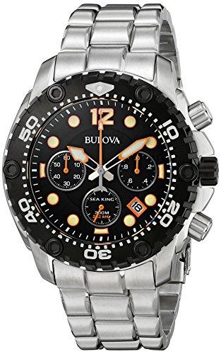 ブローバ 腕時計 メンズ 98B244 【送料無料】Bulova Men's 98B244 Sea King Analog Display Japanese Quartz Silver Watchブローバ 腕時計 メンズ 98B244