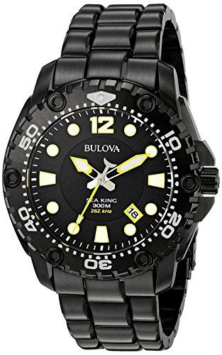 ブローバ 腕時計 メンズ 98B242 【送料無料】Bulova Men's 98B242 Sea King Analog Display Japanese Quartz Black Watchブローバ 腕時計 メンズ 98B242