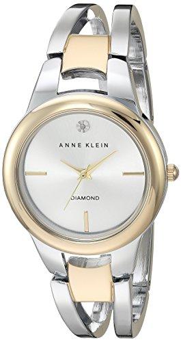 アンクライン 腕時計 レディース AK/2629SVTT Anne Klein Women's AK/2629SVTT Diamond-Accented Dial Two-Tone Open Bangle Watchアンクライン 腕時計 レディース AK/2629SVTT