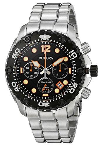 ブローバ 腕時計 メンズ 98B244 【送料無料】Bulova 98B244 Mens Sea King UHF Steel Chronograph Watchブローバ 腕時計 メンズ 98B244