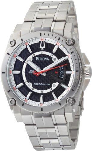 ブローバ 腕時計 メンズ 96B133 【送料無料】Bulova Men's 96B133 Precisionist Champlain Black Dial Titanium Bracelet Watchブローバ 腕時計 メンズ 96B133
