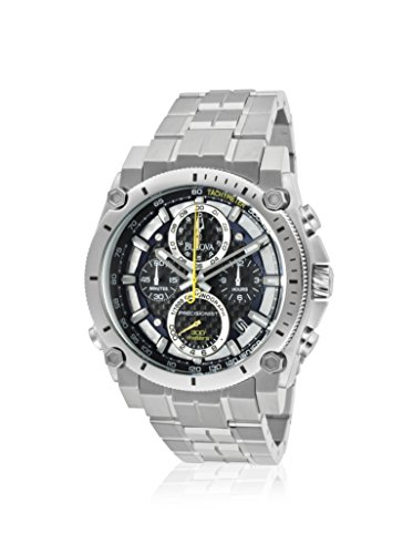 ブローバ 腕時計 メンズ BUL-96B175 【送料無料】Bulova Men's Chronograph Precisionist 96B175 Champlain Silver Tone/Black Stainless Steel Watchブローバ 腕時計 メンズ BUL-96B175
