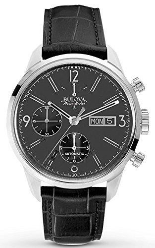 ブローバ 腕時計 メンズ 63C115 Bulova Accu Swiss Men's 63C115 Mechanical Hand Wind Black Strap Watchブローバ 腕時計 メンズ 63C115