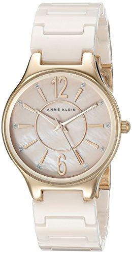腕時計 アンクライン レディース AK/2182RGLP 【送料無料】Anne Klein Women's AK/2182RGLP Glitter Accented Rose Gold-Tone and Light Pink Ceramic Bracelet Watch腕時計 アンクライン レディース AK/2182RGLP