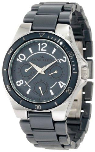アンクライン 腕時計 レディース 10/9863GYGY 【送料無料】AK Anne Klein Women's 10/9863GYGY Silver-Tone Multi-Function Grey Ceramic Bracelet Watchアンクライン 腕時計 レディース 10/9863GYGY