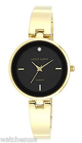 アンクライン 腕時計 レディース AK/1724BKGB Anne Klein Women's Black Dial Gold-Tone Bracelet Quartz Watch AK/1724BKGBアンクライン 腕時計 レディース AK/1724BKGB
