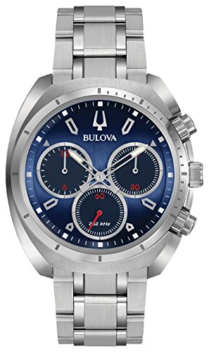 ブローバ 腕時計 メンズ 96A185 【送料無料】Bulova Men's Curv Collection Analog-Quartz Watch with Stainless-Steel Strap, Silver, 22 (Model: 96A185)ブローバ 腕時計 メンズ 96A185
