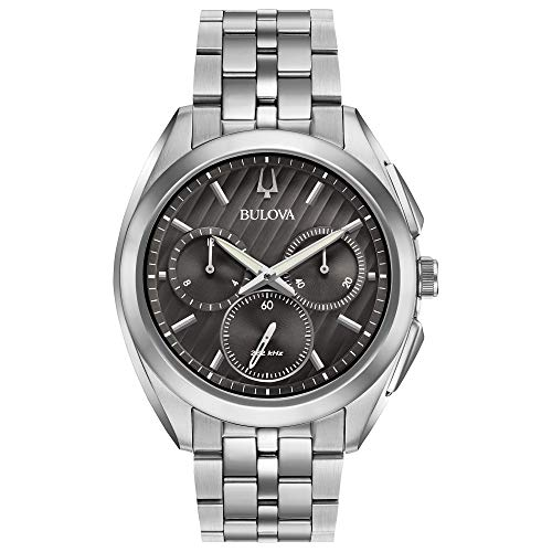 ブローバ 腕時計 メンズ 96A186 Bulova Men's 45mm CURV Collection Stainless Steel Chronograph Watchブローバ 腕時計 メンズ 96A186