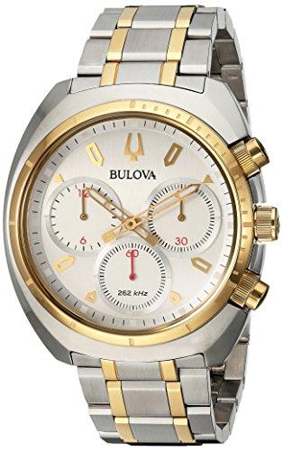 腕時計 ブローバ メンズ 98A157 【送料無料】Bulova Men's Curv Collection Analog-Quartz Watch with Stainless-Steel Strap, Two Tone, 22 (Model: 98A157)腕時計 ブローバ メンズ 98A157