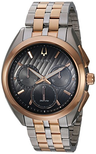 ブローバ 腕時計 メンズ 98A160 【送料無料】Bulova Men's Curv Quartz Watch with Two-Tone-Stainless-Steel Strap, 22 (Model: 98A160)ブローバ 腕時計 メンズ 98A160