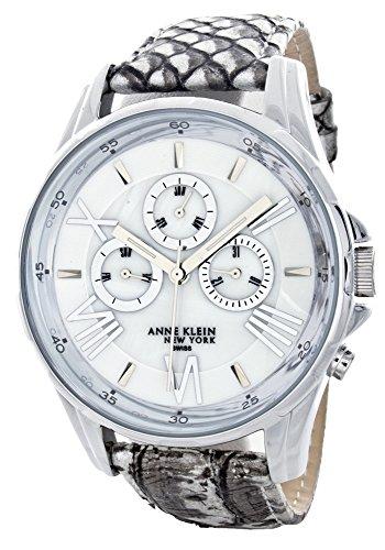 アンクライン 腕時計 レディース AK/1937MPGY 【送料無料】Anne Klein Multi-Function White Dial Over-Size Leather Band Watch AK/1937MPGYアンクライン 腕時計 レディース AK/1937MPGY