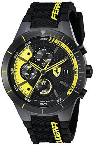 腕時計 フェラーリ メンズ 0830261 【送料無料】Ferrari Men's 0830261 REDREV EVO Analog Display Japanese Quartz Black Watch腕時計 フェラーリ メンズ 0830261
