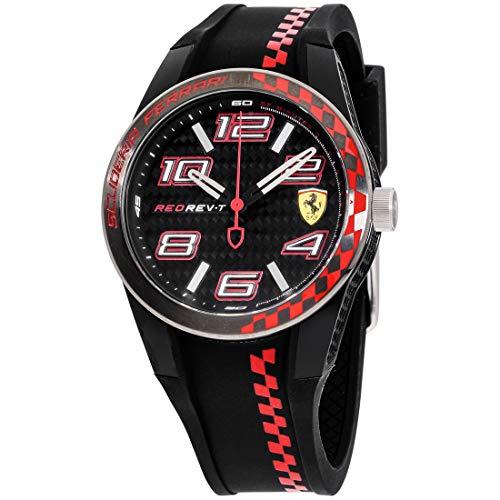 フェラーリ 腕時計 メンズ 830336 Scuderia Ferrari Men's Quartz Watch with Silicone Strap, Black, 21 (Model: 830336)フェラーリ 腕時計 メンズ 830336
