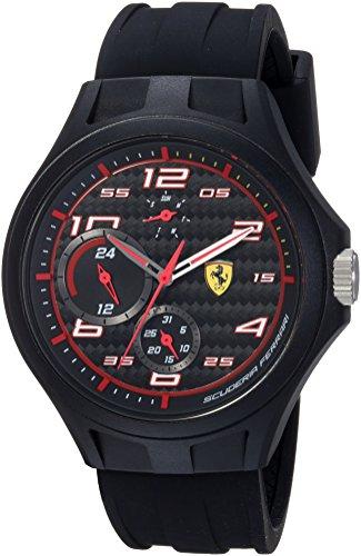 フェラーリ 腕時計 メンズ 0830290 【送料無料】Scuderia Ferrari Men's Quartz Watch with Silicone Strap, Black, 22 (Model: 0830290)フェラーリ 腕時計 メンズ 0830290
