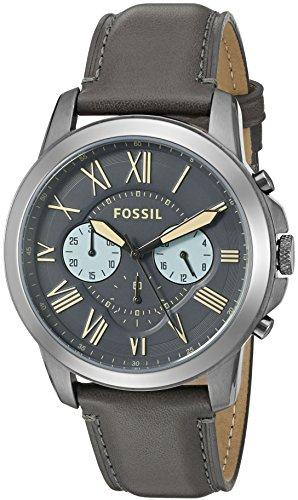 フォッシル 腕時計 メンズ FS5183 【送料無料】Fossil Men's FS5183 Grant Chronograph Gunmetal/Black Leather Watchフォッシル 腕時計 メンズ FS5183