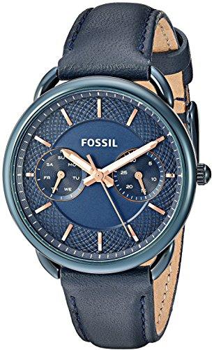フォッシル 腕時計 レディース ES4092 Fossil Women's Quartz Stainless Steel and Leather Casual Watch, Color:Blue (Model: ES4092)フォッシル 腕時計 レディース ES4092